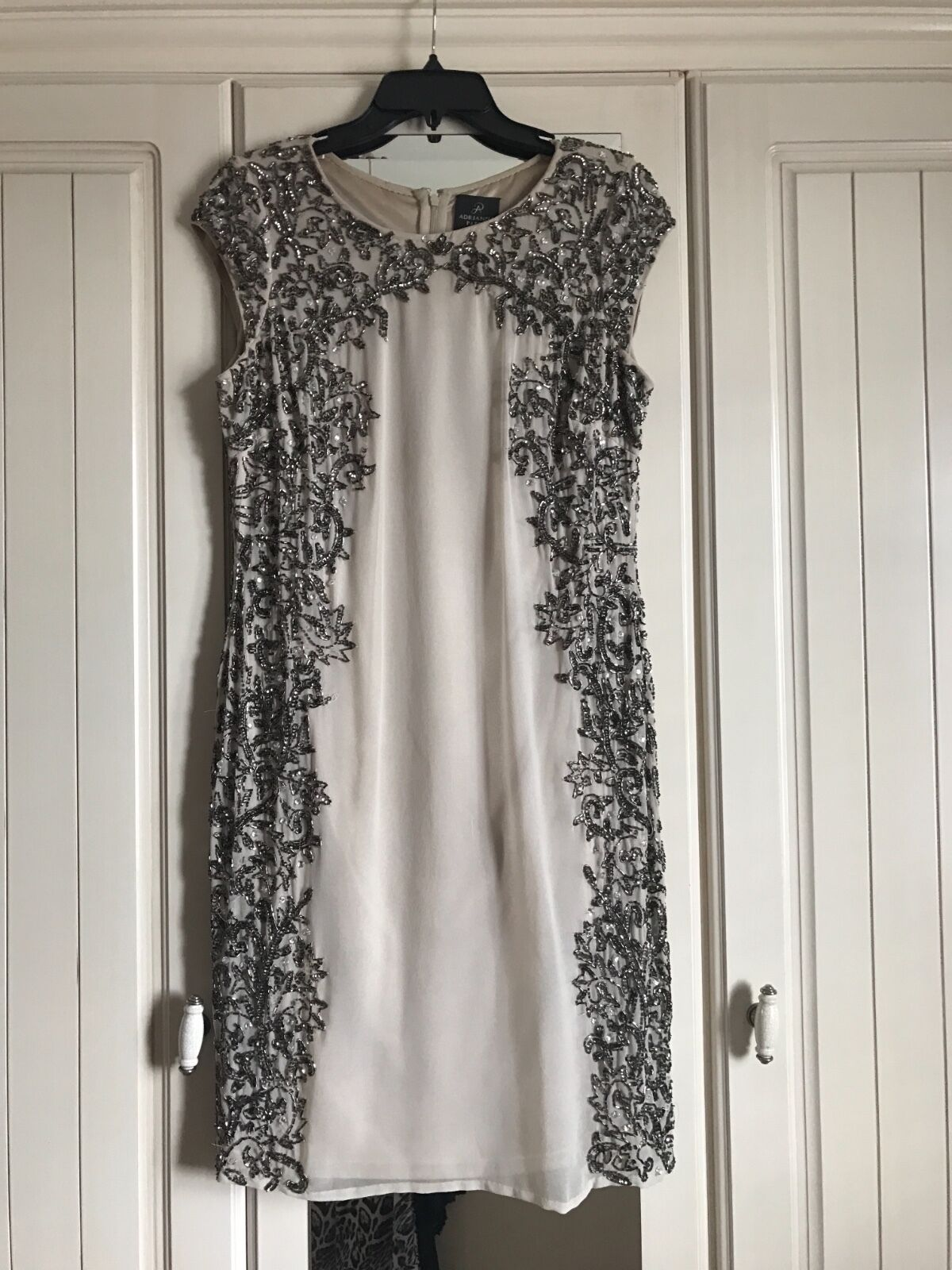 Adrianna Papell nude embellished dress- Größe 14- great condition
