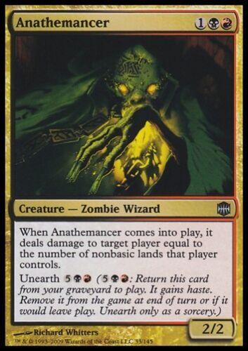 Top Zombie Wizard * MTG 4x Anathemancer-Alara Reborn