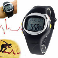 Sport Fitness Pulse Heart Rate Monitor Calories Counter Wrist Watch Black