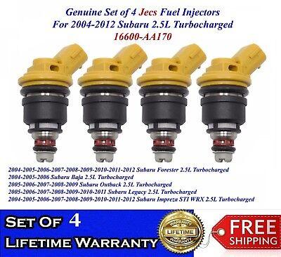 4x OEM JESC Fuel Injectors For 92-99 Subaru Legacy Impreza Forester 2.2L 2.5L