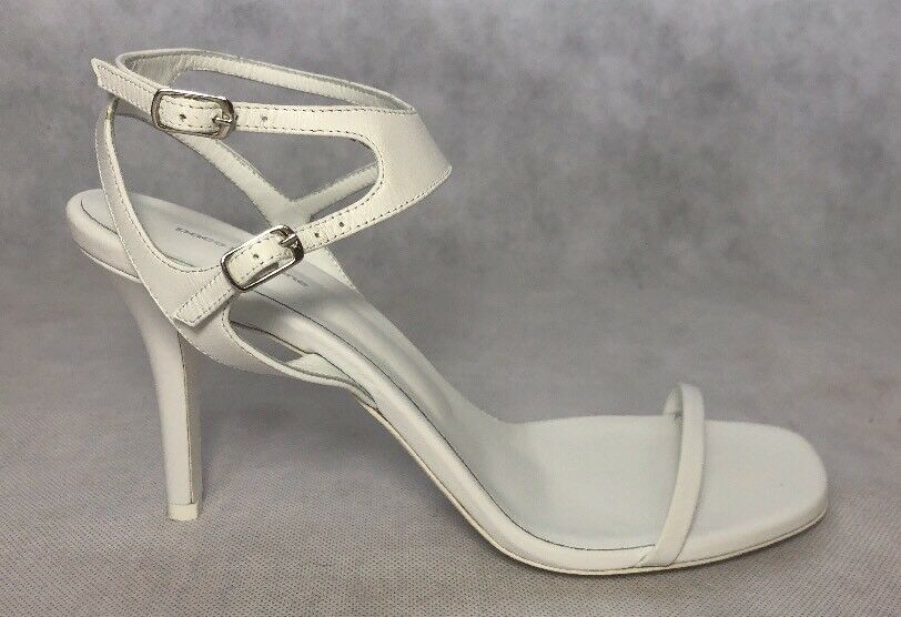 Paco Rabanne Women shoes Size 40 NIB White Leather Heel Sandals