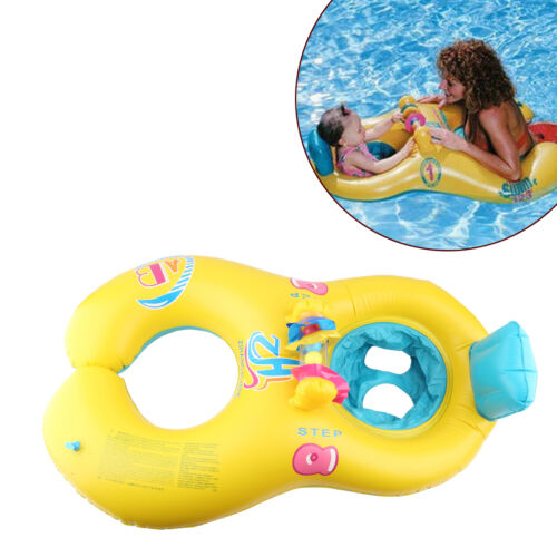 Kinderbadespaß New Safe Swimming Ring for Baby Bath Neck Float Mother-child Play Swim ring ~