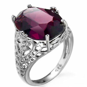 Anello-Donne-di-moda-925-argento-anello-di-fidanzamento-gioielli-Gemma-ametista