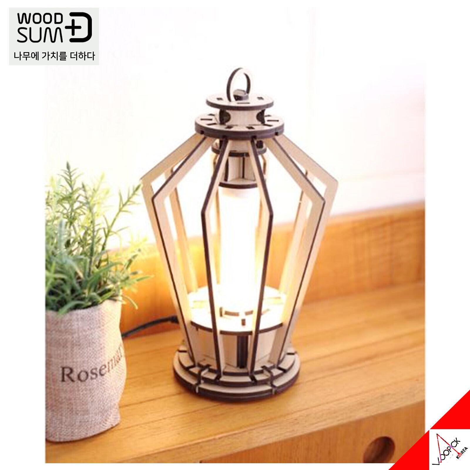 [WOODSUM] LED Retro Vintage DIY Wood Lamp-M  Self Assembly Kit - Home Decor