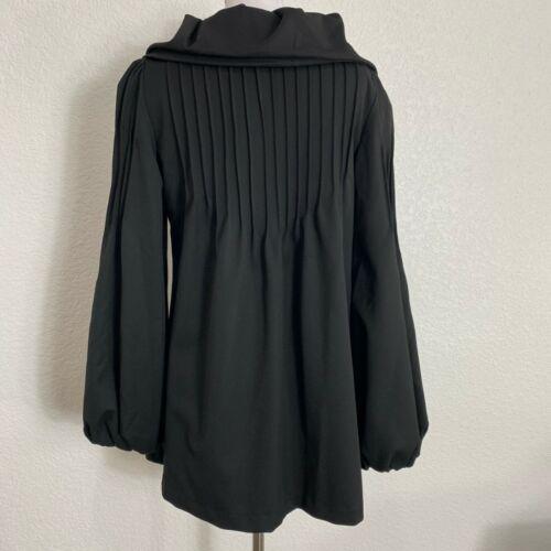 Plisseret Buttons Matty Pea Sort Xs Frakke Store Sleeves Lined Biskop M Kvinder rFxTz0r