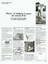 PUBLICITE ADVERTISING 037  1972  la tondeuse à gazon coussin air Flymo