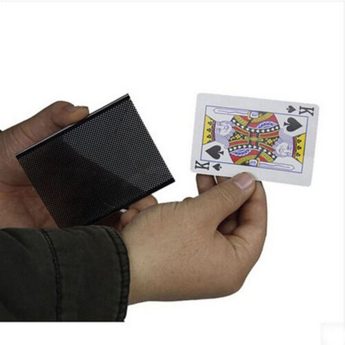 Populäre Karte Vanish Illusion ändern Hülse Nahaufnahmestraße Magic Trick ST