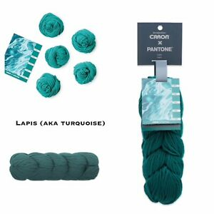 NEW-Caron-X-Pantone-Merino-Wool-Yarn-Lapis-Turquoise-RETIRED-SOLD-OUT-LIMITED-ED