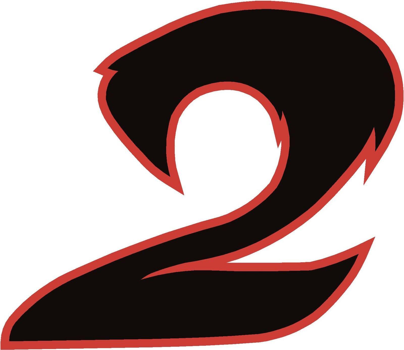 X1 chiffres (de plus en boutique les ebay) les boutique numéros de course autocollants en vinyle style 2 noir / rouge b803d2