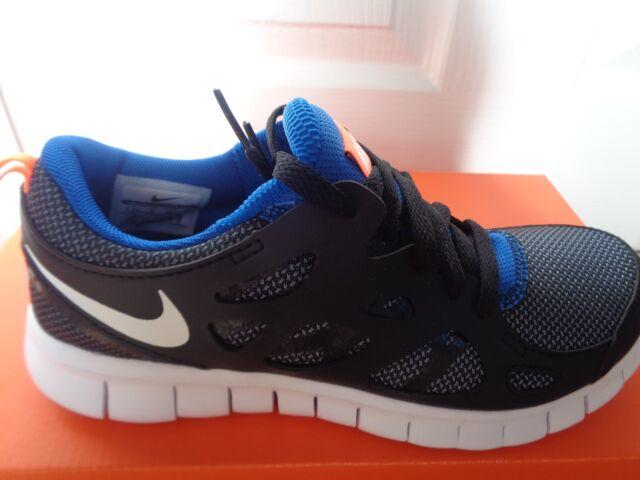 e121d819f141 Nike Run 2 GS Running Shoes Trainers 443742-033 Black White 3 4.0 ...