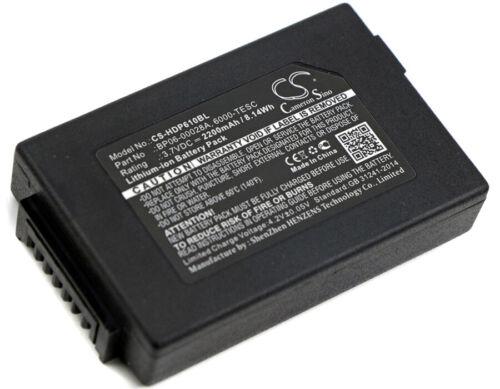 Battery for Honeywell Dolphin 6000-BTSC 6000-TESC 6100 6110 6500 ScanPal 5100