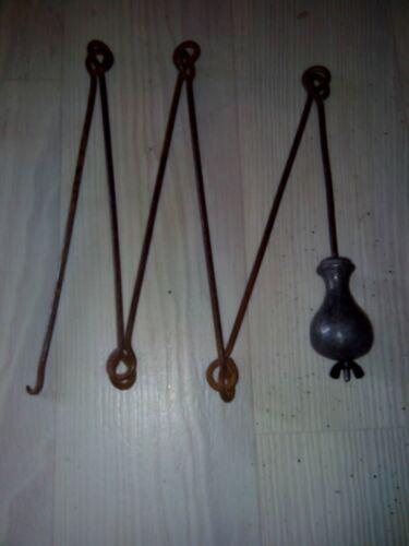 balanciers coq ou fil horloge comtoise style chaîne d/'arpenteur