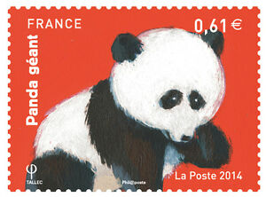 TIMBRE-4843-NEUF-XX-LUXE-PANDA-GEANT-OURS