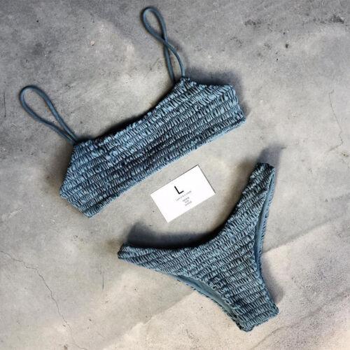 Brasilianisch Damen Push Up Bikini Set Bademode Badeanzug Zweiteiligen Beachwear