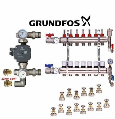 2-12 MANIFOLD SET+Grundfos PUMP  UNDERFLOOR HEATING