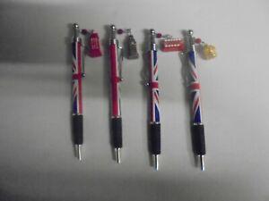 lot de 4 stylos thème angleterre neuf