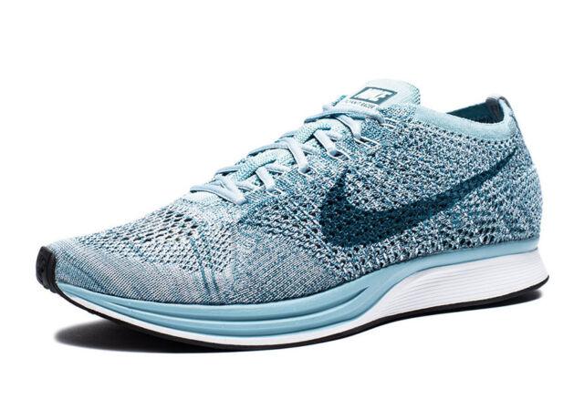 248477618f4c Nike Flyknit Racer White blue 526628-102 US Size Men 7.5 WMNS 9 for ...