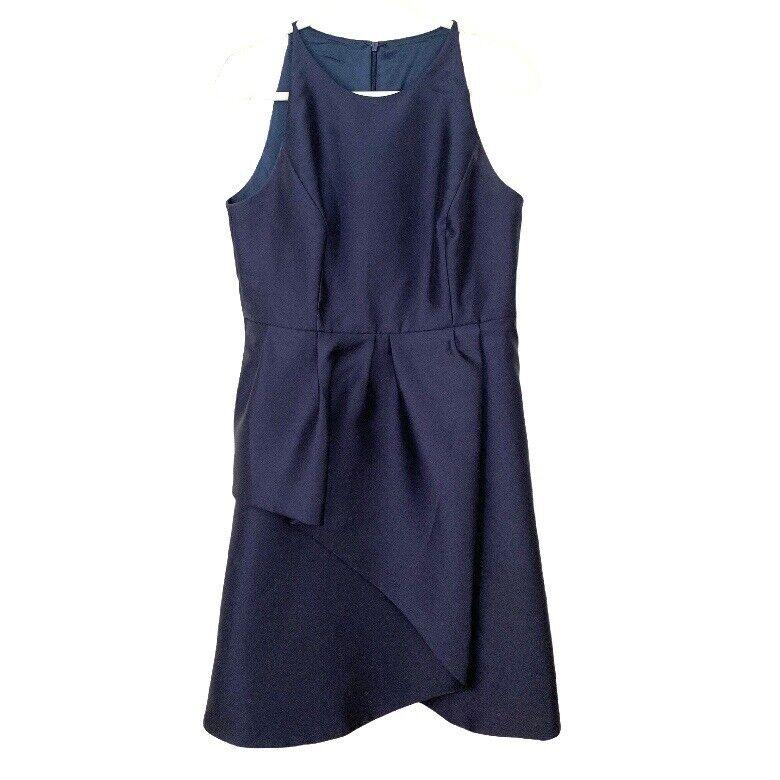 Lela Rose Bridesmaid Dress Style LR206 Midnight Blue Size 14 Retail