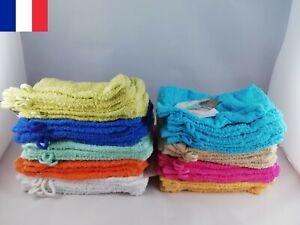 Lot 2 X Gants de Toilette Douche Gant Bain 100% Coton 450gr/m2