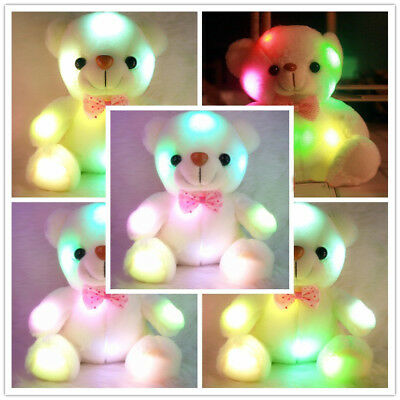 Plush Toys For Girls Baby LED Light Up Soft Stuffed Teddy Bear Kids Xmas Gift UK