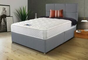 Super-Grey-Divan-Bed-with-Memory-Foam-Mattress-amp-MATCHING-Headboard