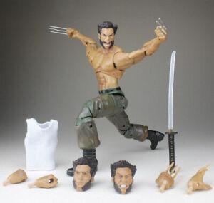 Marvel-Diamond-Select-Wolverine-Movie-Logan-7-034-Action-Figure-Loose-X-Men-Model