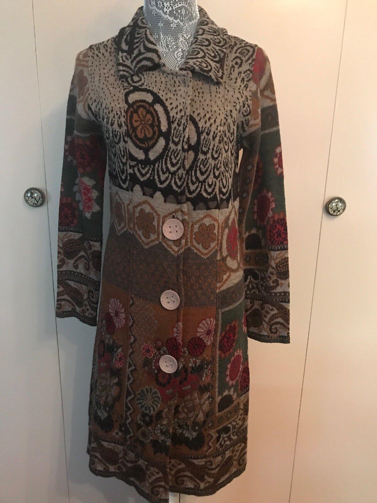 LO.RL  Lange Mixed Floral Sweater Mantel - M
