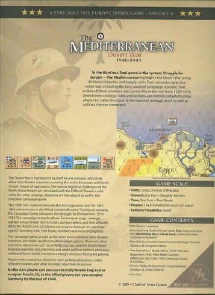CLASH OF ARMS GAMES - THE MEDITERRANEAN DESERT WAR 1940-1945