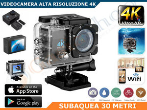 Action Camera Subacquea : Pro cam sport wifi k mp ultra hd action camera k videocamera