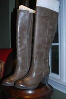 Seychelles Gray Taupe Leather Heaven And Earth Knee High Boots Sz 8