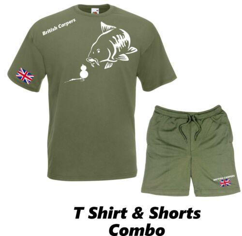 Tee Shirt /& Shorts Combination Fishing Clothing