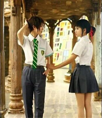 Your Name Miyamizu Mitsuha School Uniform Cosplay Costume