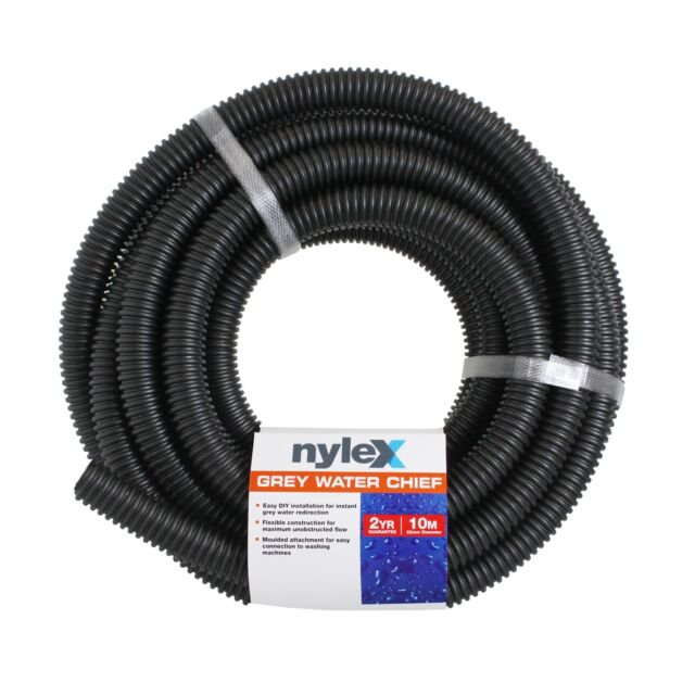 Nylex WATER CHIEF HOSE 22mmx10m Moulded Attachment, GREY *Australian Brand