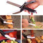 Home 2-in-1 Knife Cutter Cutting Board Scissors Tool Bread Free Peeler