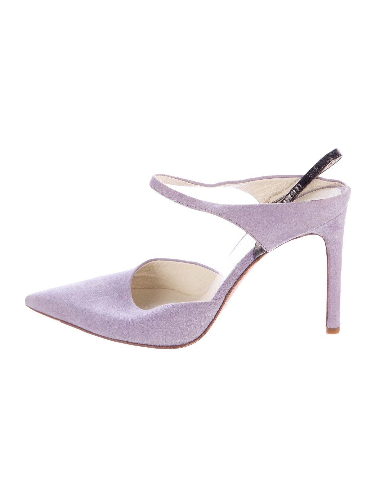 NEW Helmut Lang Vintage Vintage Lang Archival Lavender Suede Heels Shoes 36.5 6.5 cb870f