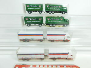 BD334-0-5-4x-Wiking-H0-1-87-Lastzug-Mercedes-455-Gilde-457-Einbecker-NEUW-OVP