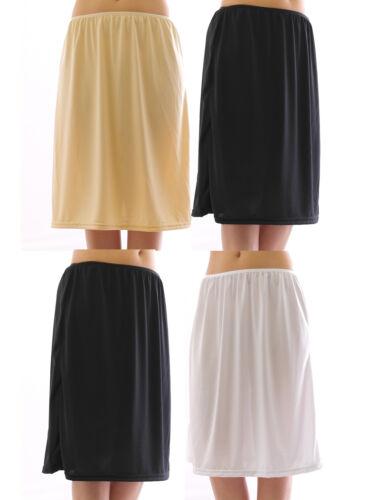 Maxi Unterrock Gummibund Falten Rock Skirt Maxirock Unterwäsche lang