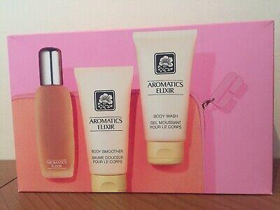 CLINIQUE Aromatics Elixir Gift Set, EDP Body Wash Body Lotion Bag NEW | eBay
