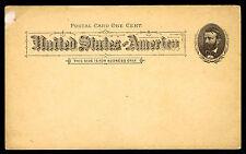 1891 UX10 .01c MINT POSTAL CARD -  VF - CV $47.50 (ESP#487)