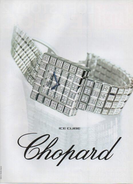 Publicité Advertising  ///   Chopard  ice cube  montre