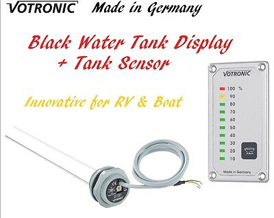 Votronic Black Water Tank Level Gauge Meter Monitor Sensor RV Camper Van Boat