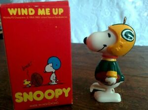 Custom-Created-Vintage-3-034-Ornament-amp-Box-SNOOPY-FOOTBALL-Green-Bay-Packers-NFL