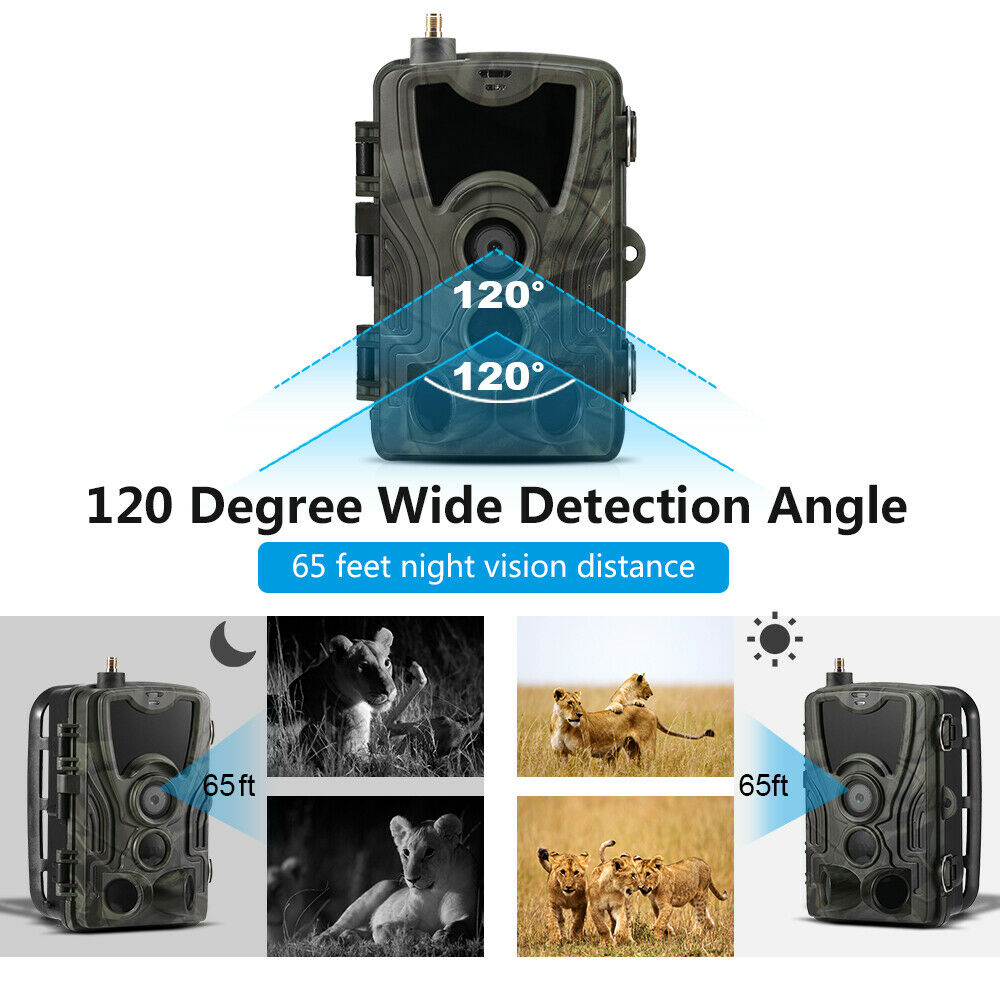 HC-801M 2G GSM Hunting Trail Camera 16MP 1080P MMS SMTP  SMS IR Night Vision IP65  online at best price