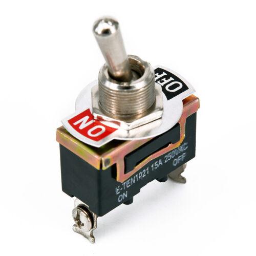 5 Tlg Kippschalter 15A//250V 2-Pin Wippschalter KFZ LKW Wasserdicht Schutzkappe