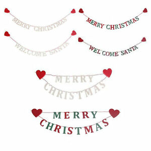 image is loading wooden christmas garland chain merry christmas welcome santa