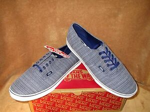62686ac8a9 Image is loading NEW-VANS-AUTHENTIC-LO-PRO-WOVEN-CHAMBRAY-SHOE-