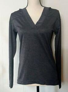 ZELLA-Women-039-s-Long-Sleeve-Lightweight-Activewear-Hoodie-Top-Dark-Gray-Size-S