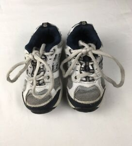 7ec5200a2d579f Stride Rite Toddler Boys Size 7 Leather Sneaker Shoes Lace Up White ...