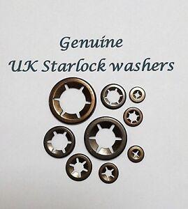 Starlock Push On Fasteners Speed Locking Washers Locking Clips 25 x 2mm
