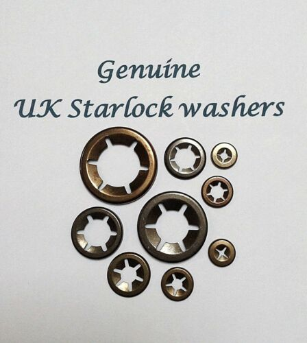 Starlock Quick Lock Star Nut Flower Internal Tooth Push On Washer Clips 2MM-10MM